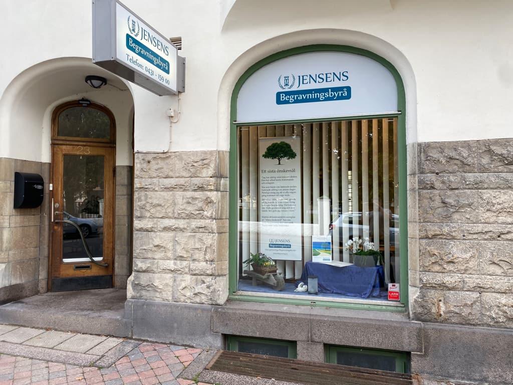 Jensens Begravningsbyrås kontor i Ängelholm