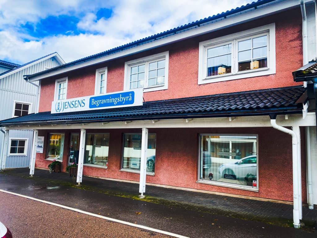 Jensens Begravningsbyrås kontor i Örkelljunga